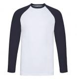 Sale% Baseball-Langarm-Shirt von Fruits of the Loom