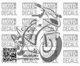 Sticker motif Suzuki RF 600 R